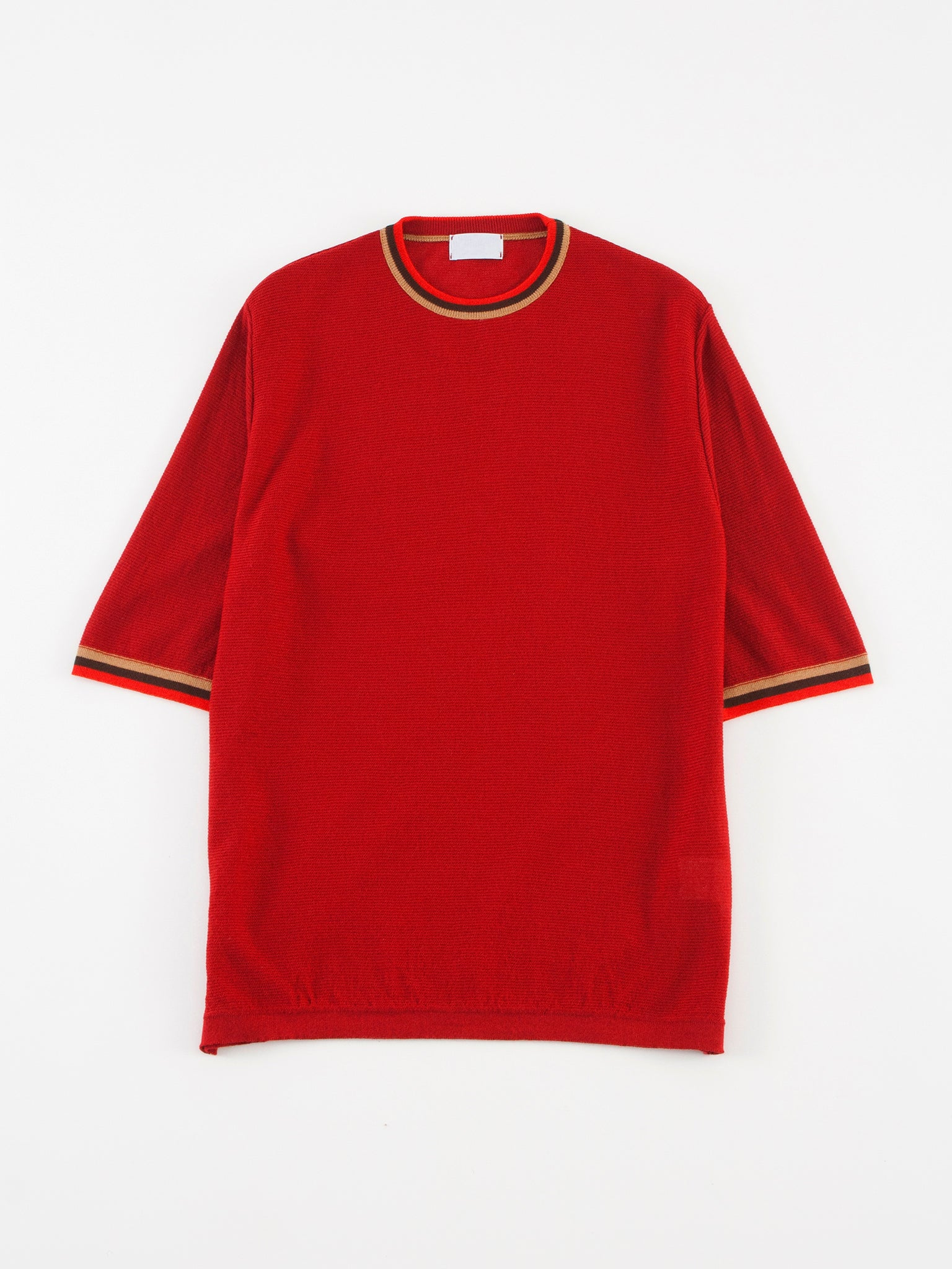 Camo Feystongal Knit T-shirt Red