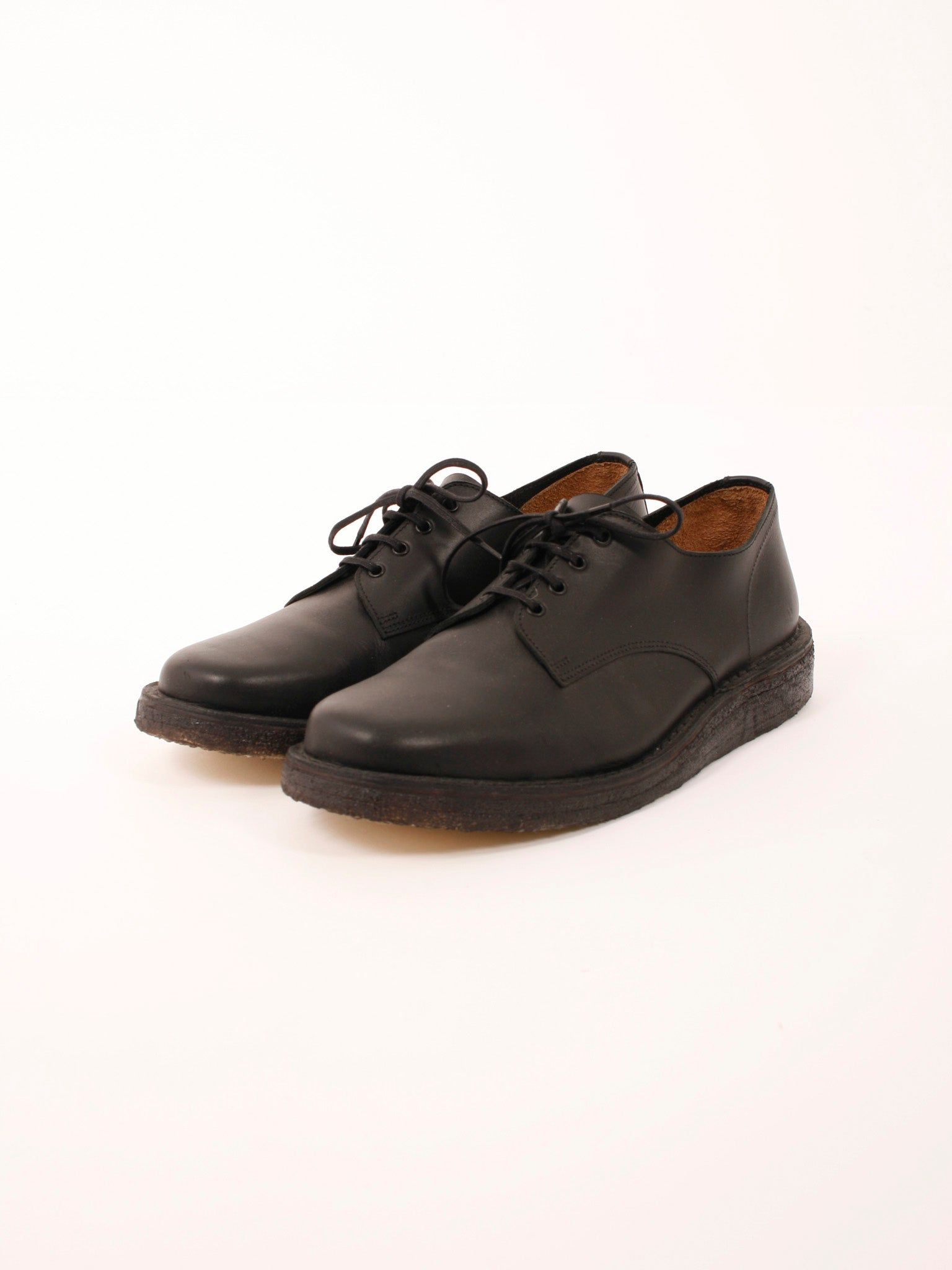 out to lunch derby shoes black made in UK mens shoes