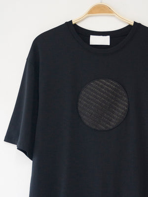 Circle T-Shirt with circle, black