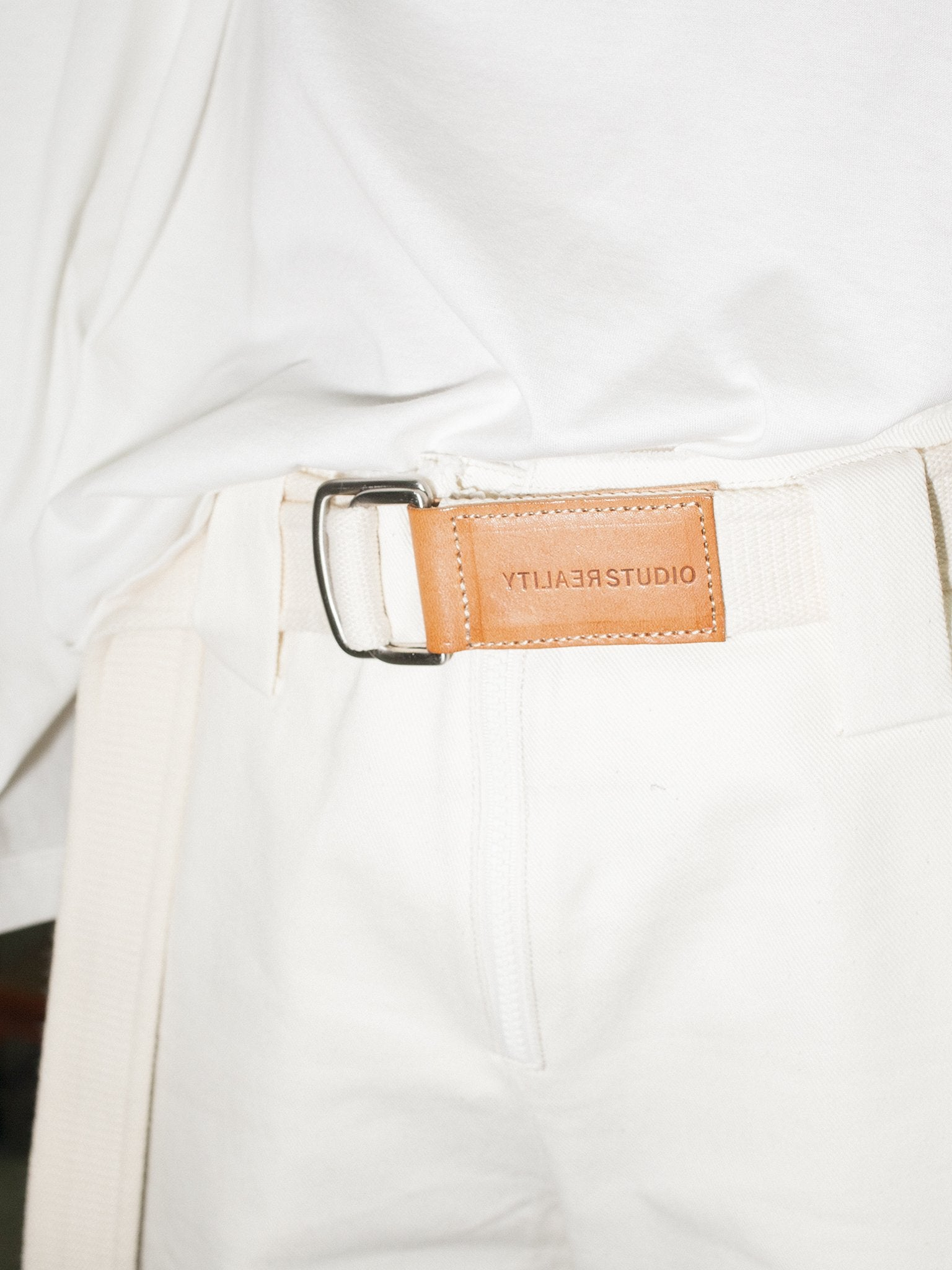 Lopo belt, Off-White & Natural