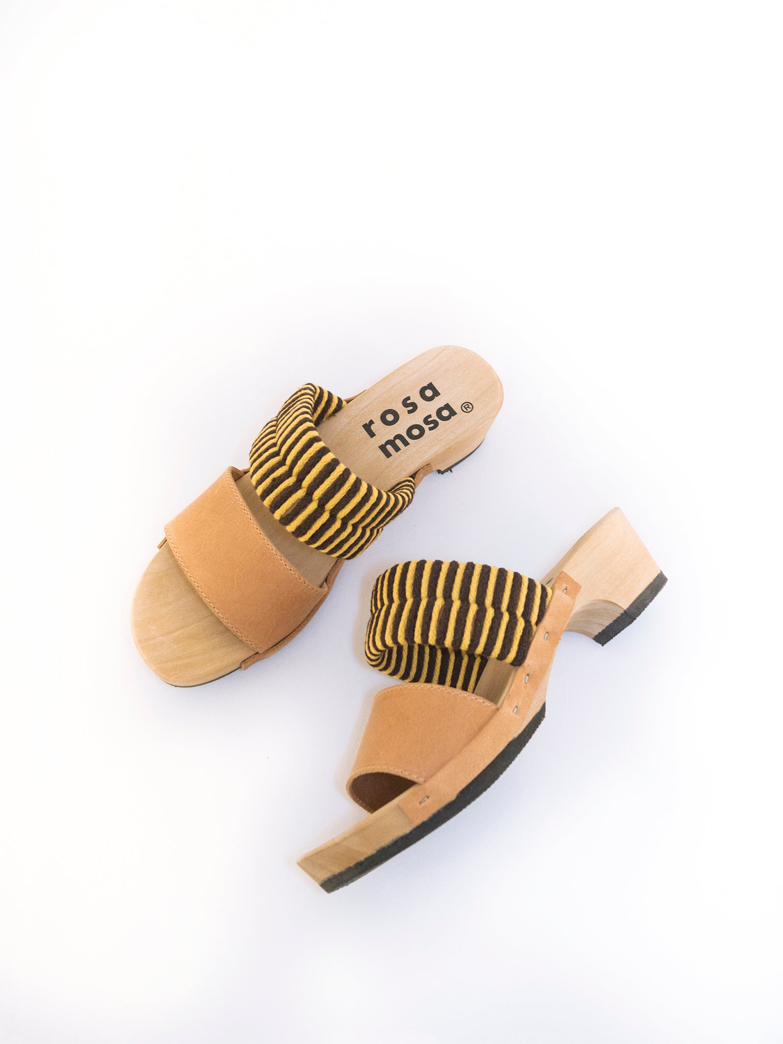 Rosa Mosa Mago Sandals Yello Coffee
