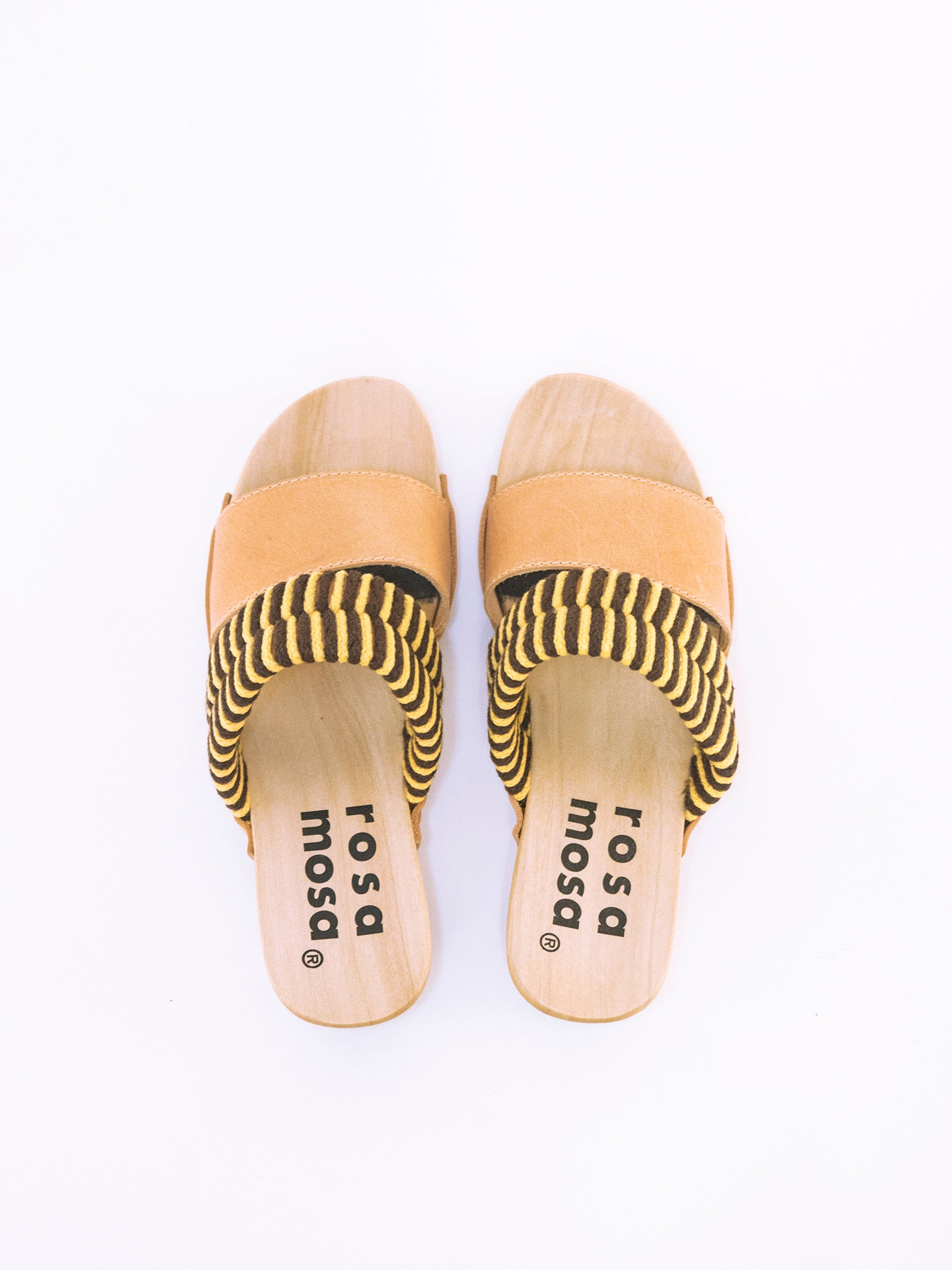 Rosa Mosa Mago Sandals Yellow Coffee