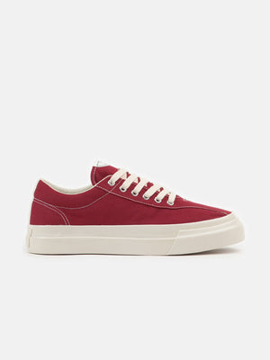 s.w.c dellow canvas sneaker red