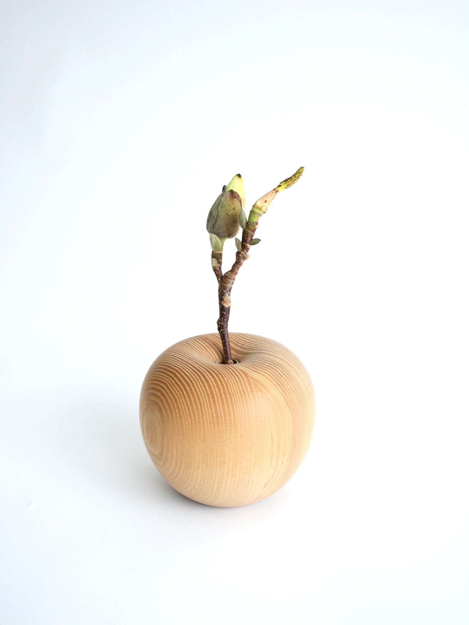 SeeSee Apple flower vase Japan wood