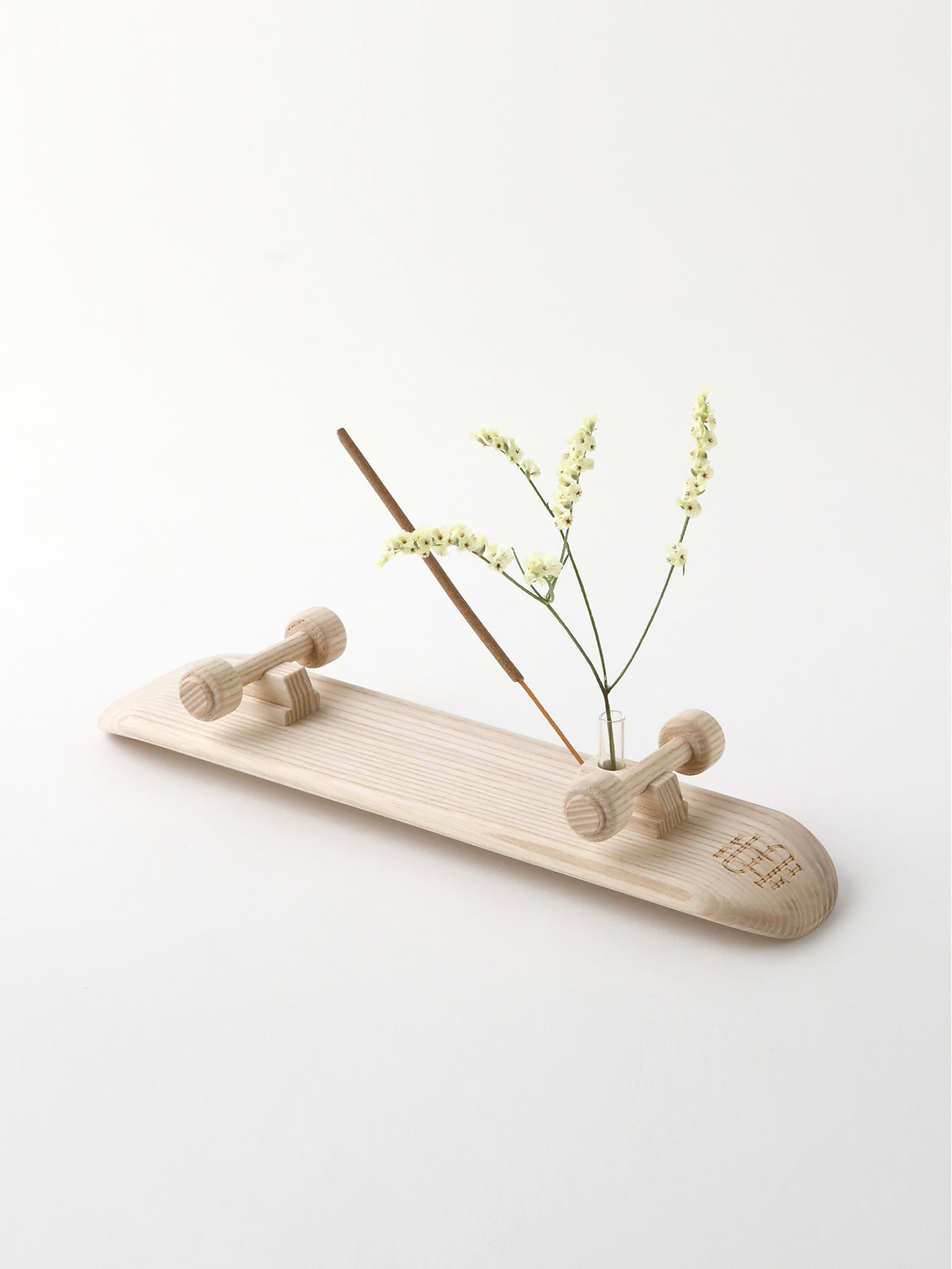 Mini SK8 flower vase, wood