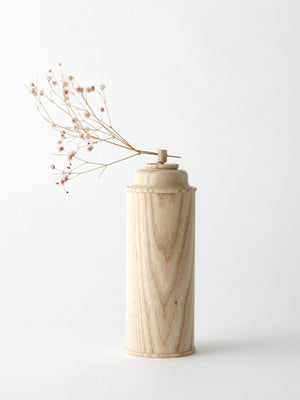 Spray flower vase, wood