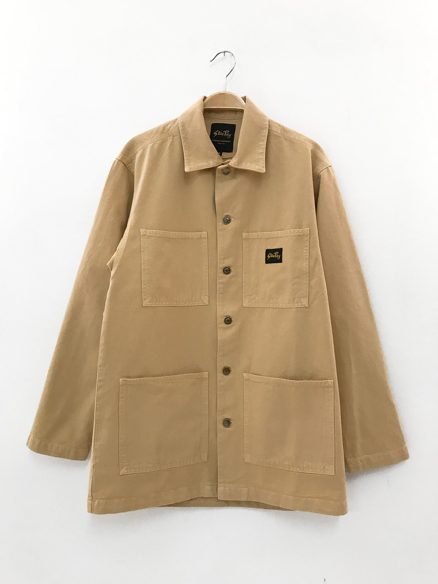 Stan Ray Shop jacket sand over-dye natural