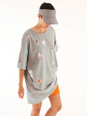 startstyling stickies bigshirt grey multicolor