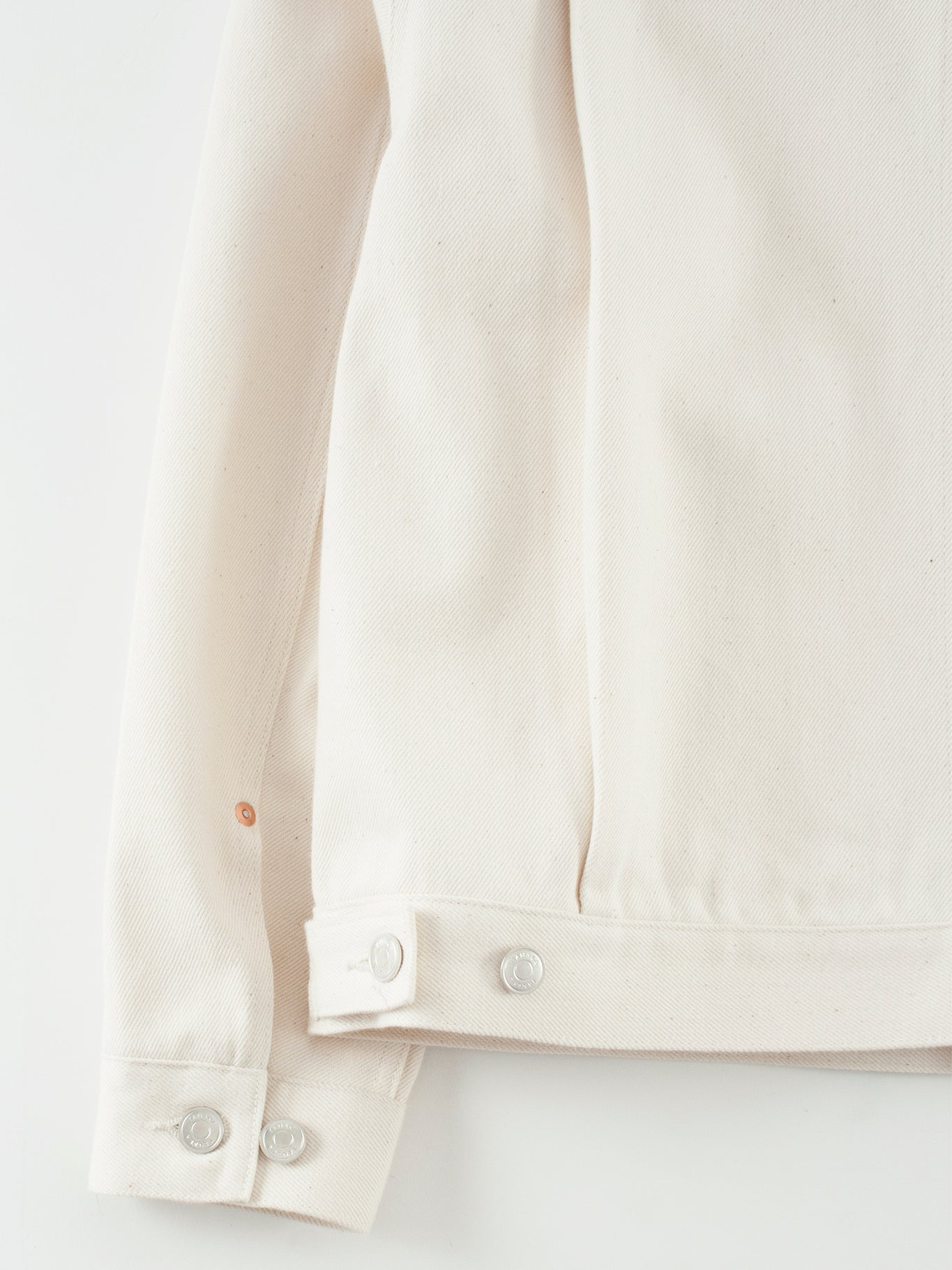Tanaka New classic jean jacket raw white