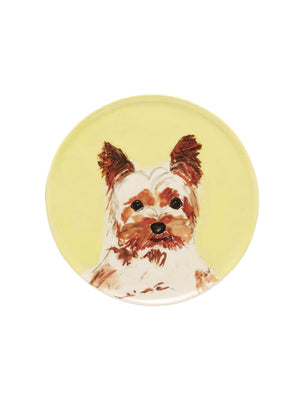 the painter's wife yorkshire terrier ceramic plate