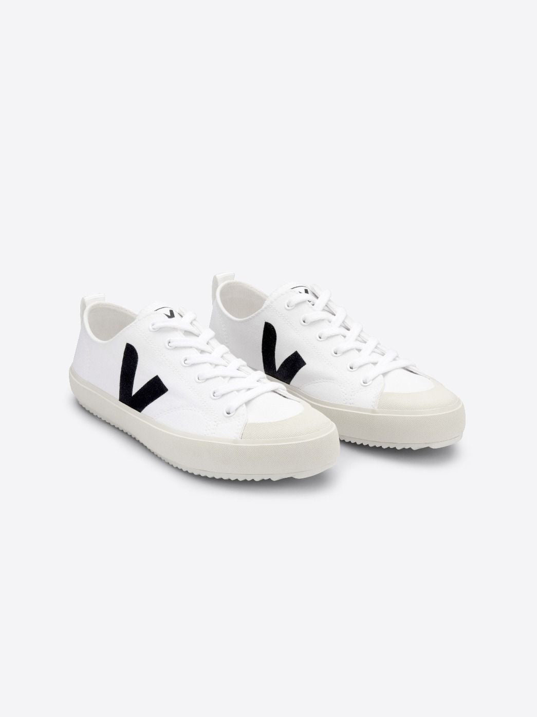 Nova canvas sneaker, white-black