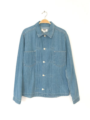 YMC Kit Shirt Indigo Bleach