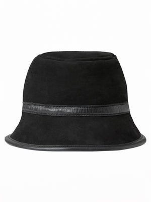 ymc bucket hat suede black