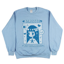 "Load image into Gallery viewer, ""Stressed but Well-Dressed"" Fleece Pullover"