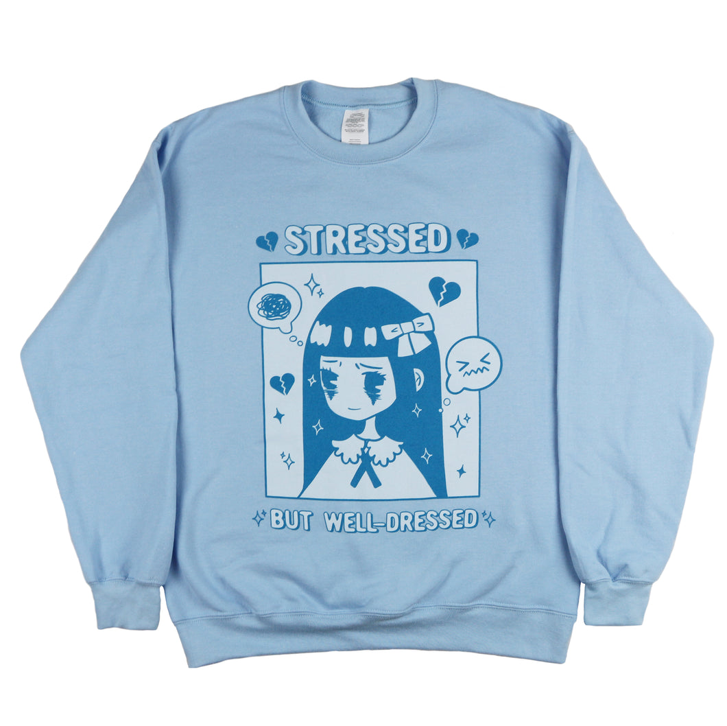 """Stressed but Well-Dressed"" Fleece Pullover"