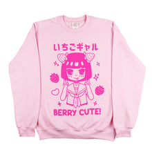 "Load image into Gallery viewer, ""Berry Cute"" Fleece Pullover"