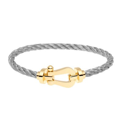 FORCE TEN BRACELET STEEL CABLE YELLOW GOLD BUCKLE