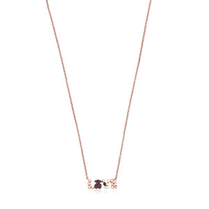 Tous San Valentín love Necklace in Rose Gold Vermeil with Ruby and Spinel 915302550