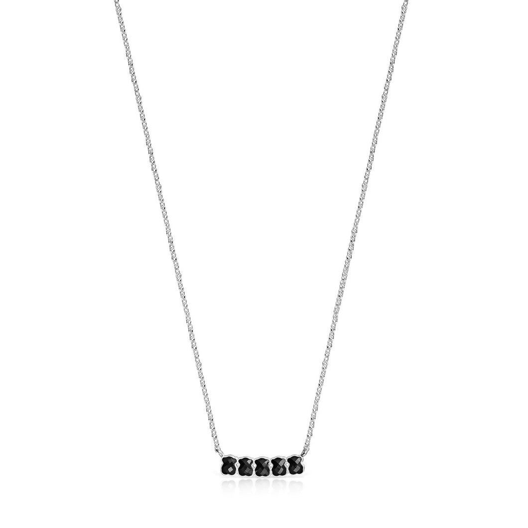 Tous Mini Onix Necklace in Silver with Onyx 918452510