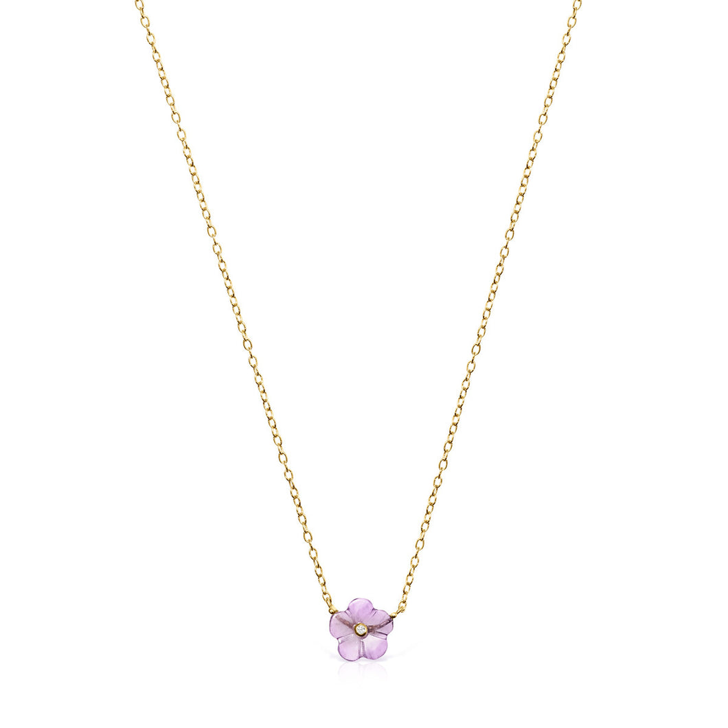 Tous Vita Necklace in Gold with Amethyst and Diamond 918532030