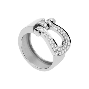 FRED PARIS FORCE 10 WHITE GOLD AND DIAMONDS RING