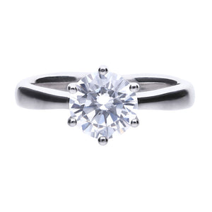 Diamonfire Anello Solitario Carats 61/1489/1/082