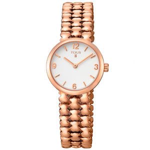 Tous Rose IP Steel Parade Watch 700350255