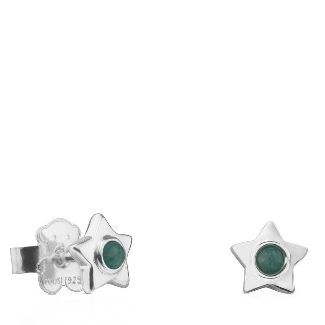Tous Silver Super Power Earrings with Quartzite 812403790