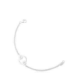 Tous Silver Super Power Bracelet with Pearls 812401540