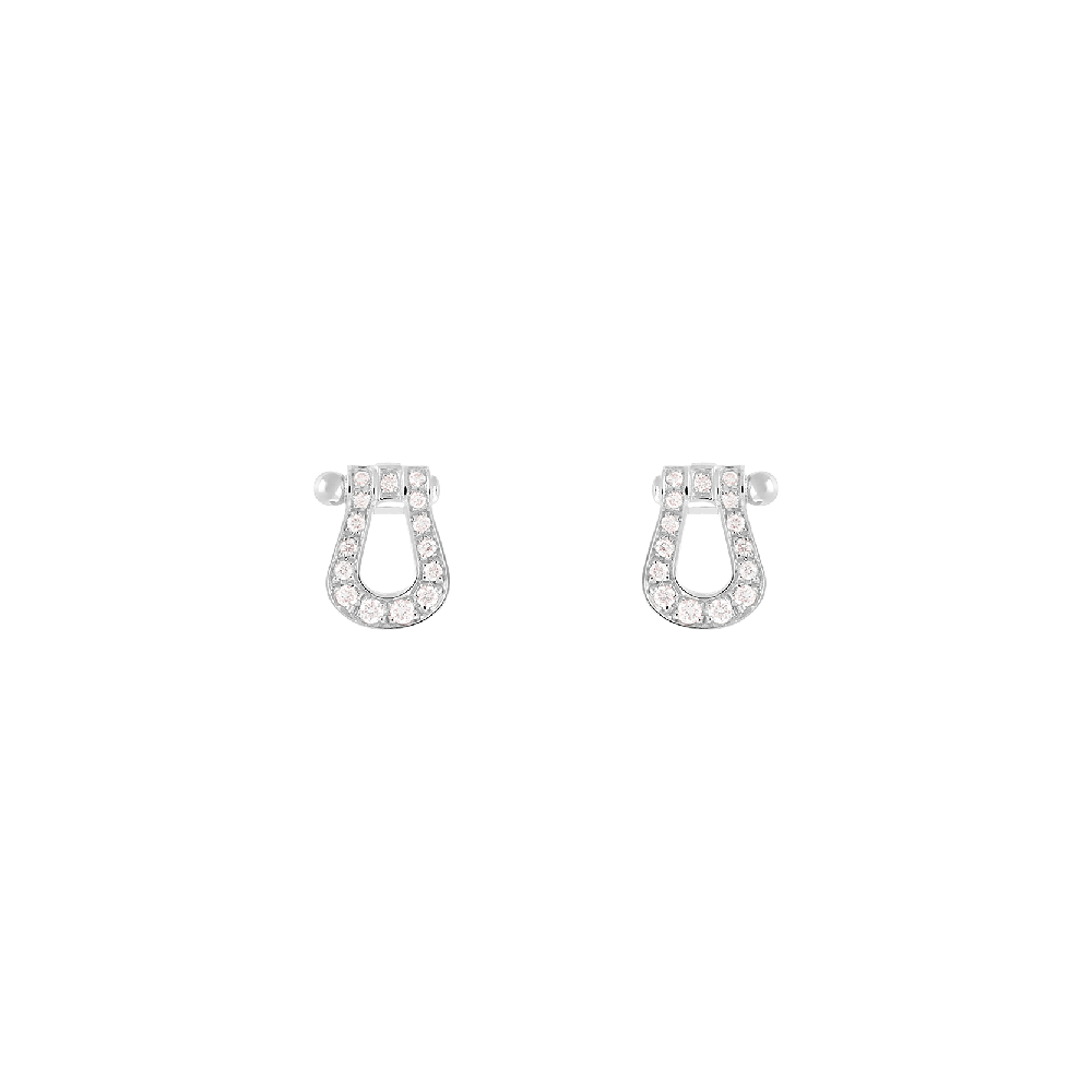 FRED PARIS FORCE 10 WHITE GOLD AND DIAMONDS EARRINGS