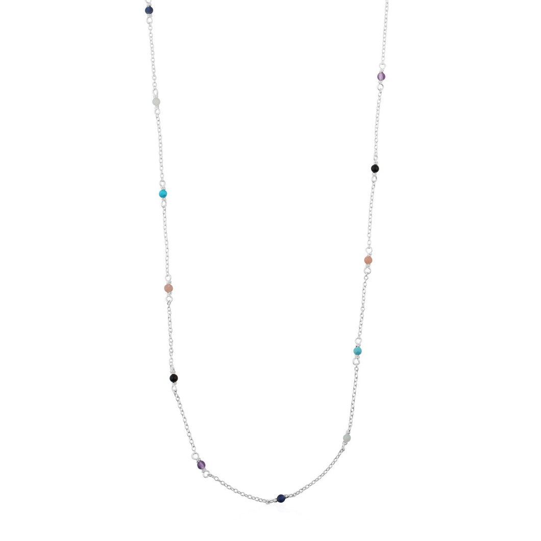 Tous Silver Super Power Necklace with Gemstones 812402510
