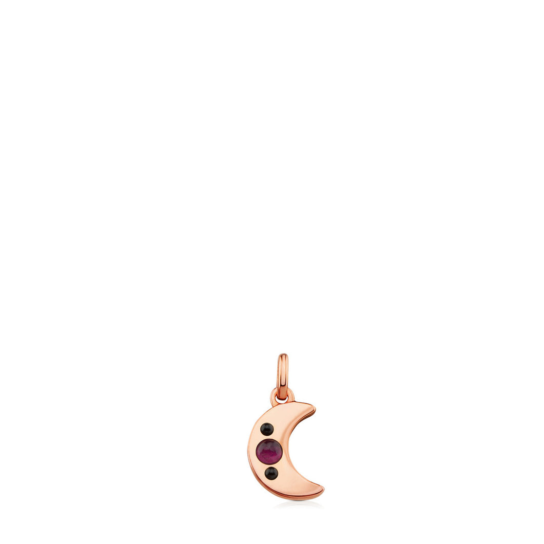 Tous Rose Vermeil Silver Super Power Pendant with Ruby and Spinel 812404600