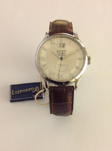 EBERHARD EXTRA-FORT GRANDE DATE RE'SERVE DE MARCHE E'DITION BLEUET 39MM 41037