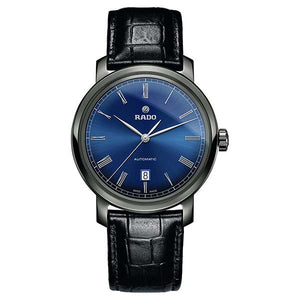 RADO DIA MASTER BLUE DIAL & LEATHER STRAP 33 MM