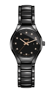 RADO TRUE DIAMONDS BLACK CERAMIC WATCH