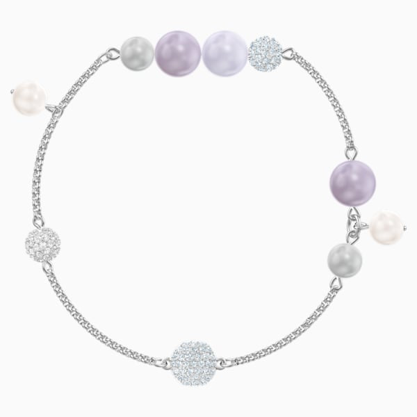 SWAROVSKI REMIX COLLECTION PEARL STRAND, MULTICOLORE, PLACCATURA RODIO
