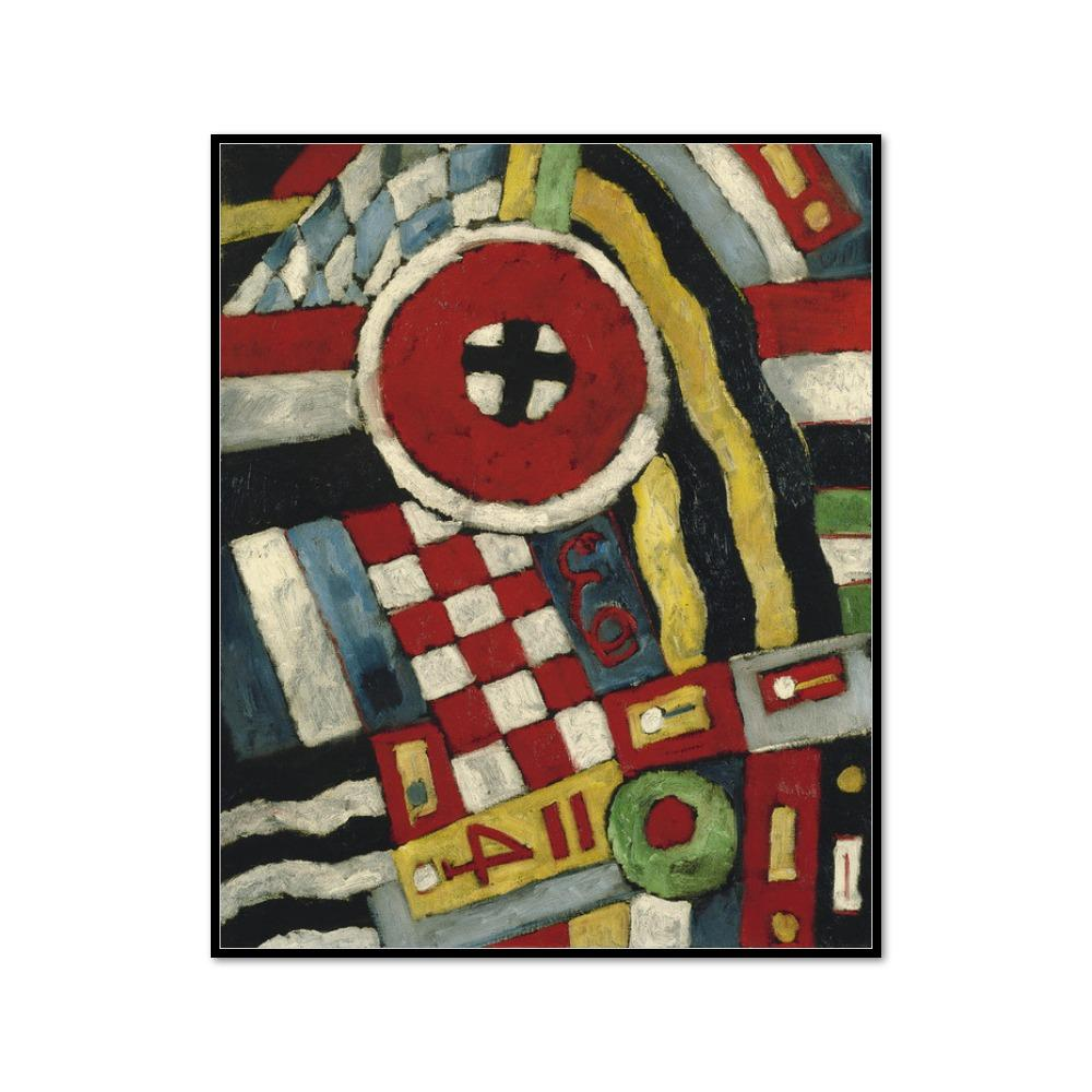 Marsden Hartley, Berlin Abstraction, 1914/1915, Framed Art Print with black frame in 3 sizes by 2020ArtSolutions
