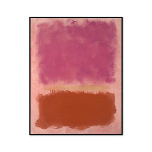 Mark Rothko, Untitled, Framed Art Print with black frame in 3 sizes by Museums.Co