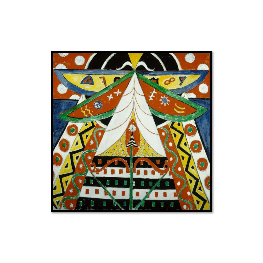 Marsden Hartley, Painting No. 50, 1914-1915, Framed Art Print with black frame in 3 sizes by 2020ArtSolutions