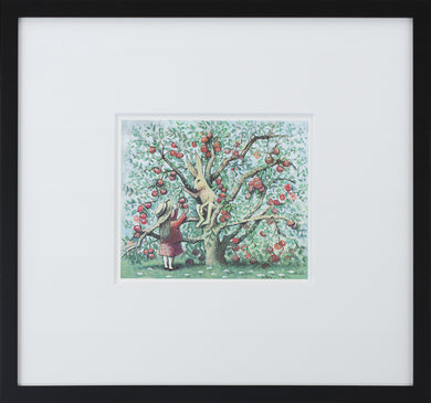 Apple Tree by Maurice Sendak Vintage Print Framed in Black - Special Edition, by Museums.Co
