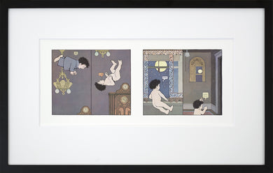 Tumbling into the Night by Maurice Sendak Framed Art Print - Special Edition