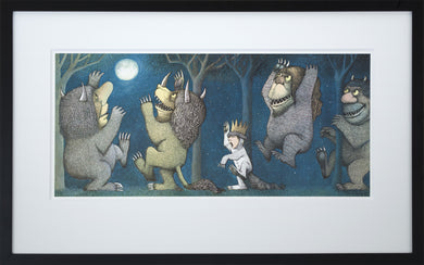 Max Howling at the Moon by Maurice Sendak Framed Art Print - Special Edition