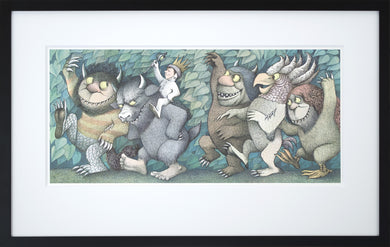 Max with Crown and Scepter by Maurice Sendak Framed Art Print - Special Edition