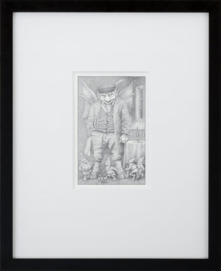 The Golem by Maurice Sendak Vintage Print Framed in Black - Special Edition, by 2020ArtSolutions