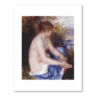 Pierre-Auguste Renoir, Petit nu bleu (Little Blue Nude), ca. 1878–1879, Albright-Knox Art Gallery, Buffalo, NY. Fine Art Prints in various sizes by Museums.Co