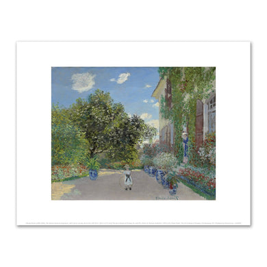 Claude Monet, The Artist's House at Argenteuil, Art Institute of Chicago, Fine Art Prints in various sizes by Museums.Co