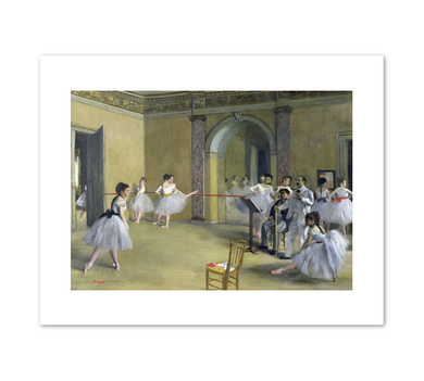 Edgar Degas, The Dance Foyer at the Opera on the rue Le Peletier, 1872, Fine Art Prints in various sizes by Museums.Co