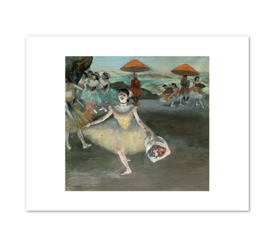 Edgar Degas, Dancer with a Bouquet Curtseying on Stage, 1877, Fine Art Prints in various sizes by Museums.Co