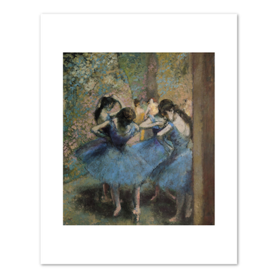 Edgar Degas, Dancers in Blue, 1890, Fine Art Prints in various sizes by Museums.Co