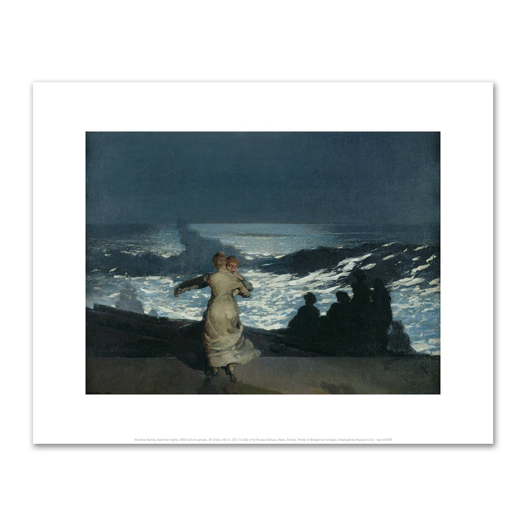 Winslow Homer, Summer Night, 1890, Fine Art Prints in various sizes by Museums.Co